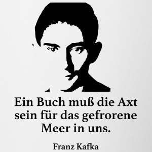 Kafka: A book must be the ax for the frozen - Contrasting Mug