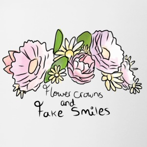 Flower Crowns and Fake Smiles - Contrasting Mug