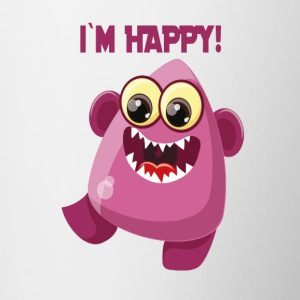 Ik ben Happy Monster - Zeggen Monster Collection - Mok tweekleurig