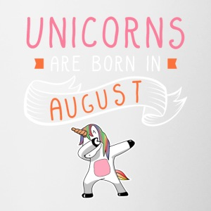 Unicorns Are Born In August - Contrasting Mug