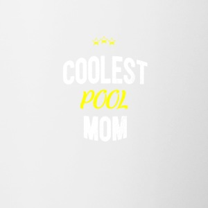 Distressed - COOLEST POOL MOM - Contrasting Mug