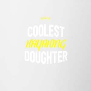 Distressed - COOLEST KAYAKING DAUGHTER - Contrasting Mug