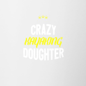 Distressed - CRAZY KAYAKING DAUGHTER - Contrasting Mug