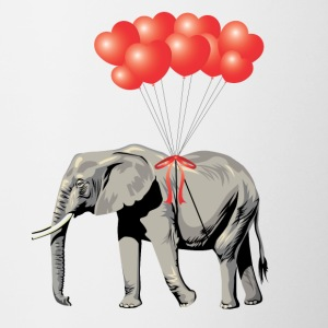 Gave Heart for elefant ballon dyrevelfærd - Tofarvet krus