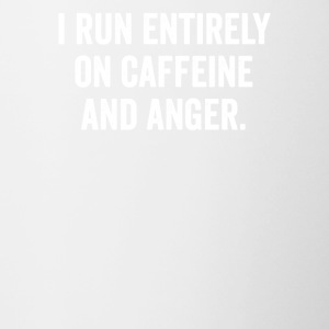 RUN ENTIRELY SU CAFFEINE E ANGER TEE. - Tazze bicolor