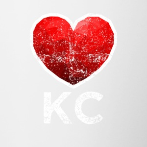 Kansas City Heart T Shirt Distressed - Kubek dwukolorowy