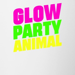 Glow Party Animals Bright neon colors fun - Contrasting Mug