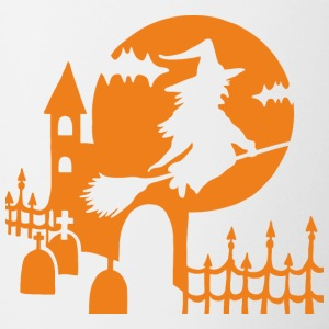 Halloween - Witch Cmentarz - Orange - Kubek dwukolorowy