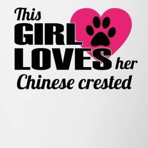 DOG THIS GIRL LOVES GIFT Chinese crested - Contrasting Mug