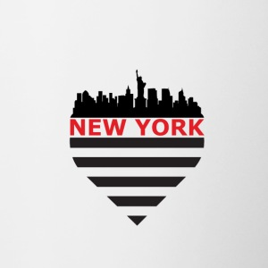 De Horizon van New York - Mok tweekleurig