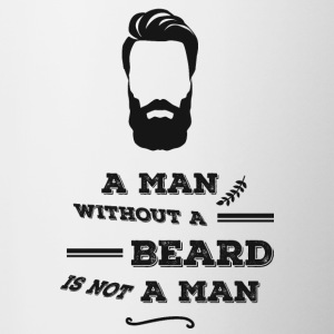 Without Beard is not a man-Bart-monokel-Gentleman - Tasse zweifarbig