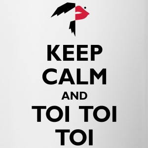 Keep Calm and Toi Toi Toi - Contrasting Mug