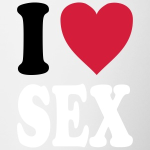 I love SEX (colors can be customized!) - Contrasting Mug