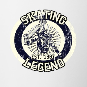 Skateboarder Skating Legende Board 1987 - Tasse zweifarbig