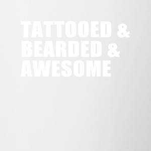 Tattooed, bearded, awesome - Tasse zweifarbig