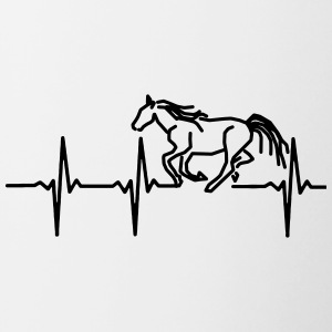 My heart beats for horses - Contrasting Mug