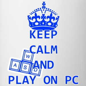 KEEP CALM AND PLAY ON PC - Tazze bicolor