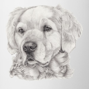 Golden retriever - Tvåfärgad mugg