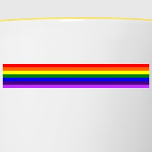 Bande arc en ciel/rainbow band - Tasse bicolore