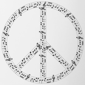 Hippie musical - Tasse bicolore