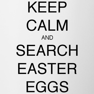 KEEP CALM AND SEARCH EASTER EGGS - Contrasting Mug