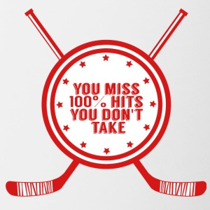 Hockey: You miss 100% hits you don't take - Contrasting Mug