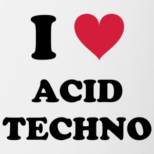 J'AIME ACID TECHNO - Tasse bicolore