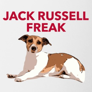 Jack Russel Freak red - Tasse zweifarbig
