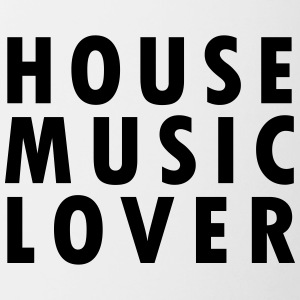House Music Lover - Tasse zweifarbig