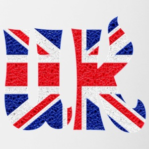 UK crystal flag - Kaksivärinen muki