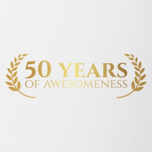 50th Anniversary: ​​50 Years of awesomeness - Contrasting Mug