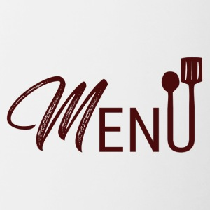 Cook / Chef: Menu - Mok tweekleurig