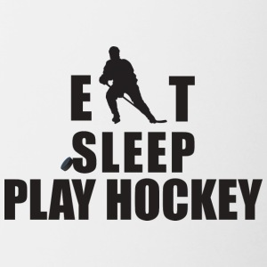 EAT SLEEP PLAY HOCKEY - Tofarvet krus