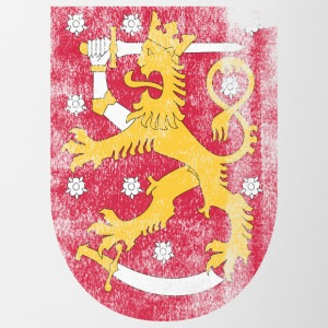 Finish Coat of Arms Finland Symbol - Tvåfärgad mugg