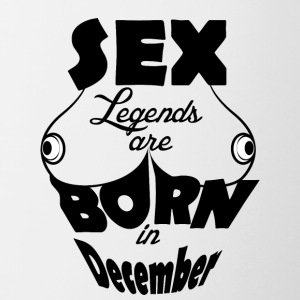 Birthday December Boobs Sex Boobs - Contrasting Mug