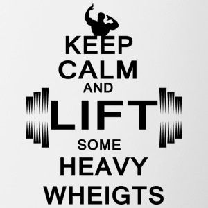 KEEP CALM lift some heavy weights - Tasse zweifarbig