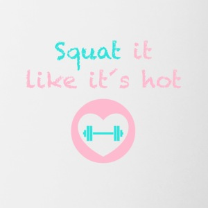 Squat it like it`s hot - Contrasting Mug