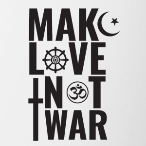 Make Love Not War - Tasse bicolore