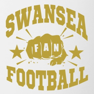 Swansea Football Fan - Tasse bicolore