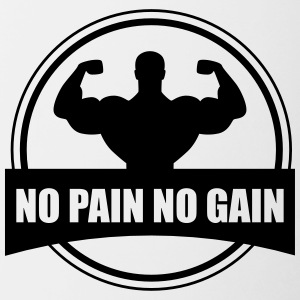 No pain no gain - Gym Bodybuilding - Contrasting Mug