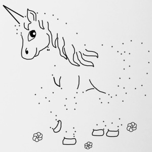 Unicorn Paint by Numbers - Kaksivärinen muki