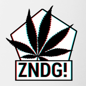 Ignition! ZNDG! feuille de cannabis - Tasse bicolore