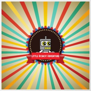 Little Robot Adventure - Robot Retro Logo - Mok tweekleurig