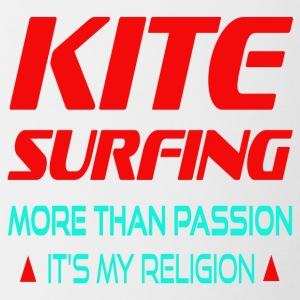 KITESURFING - MORE THAN PASSION ITS MY RELIGION - Tasse zweifarbig