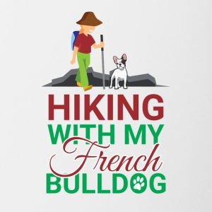 HIKING FRENCH BULLDOG - Contrasting Mug