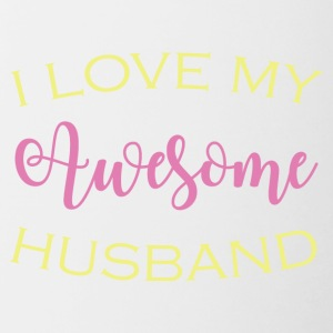 AWESOME HUSBAND - Tasse zweifarbig