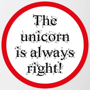 The unicorn is always right! - Contrasting Mug