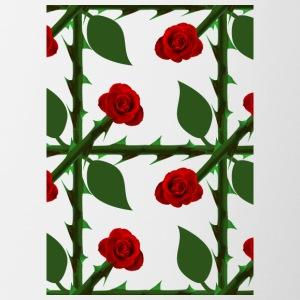 Red Rose Pattern - Tofarget kopp