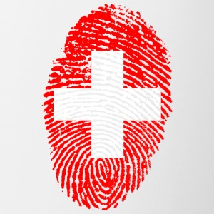 Fingerprint - Switzerland - Contrasting Mug