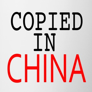 Copié en Chine - Tasse bicolore